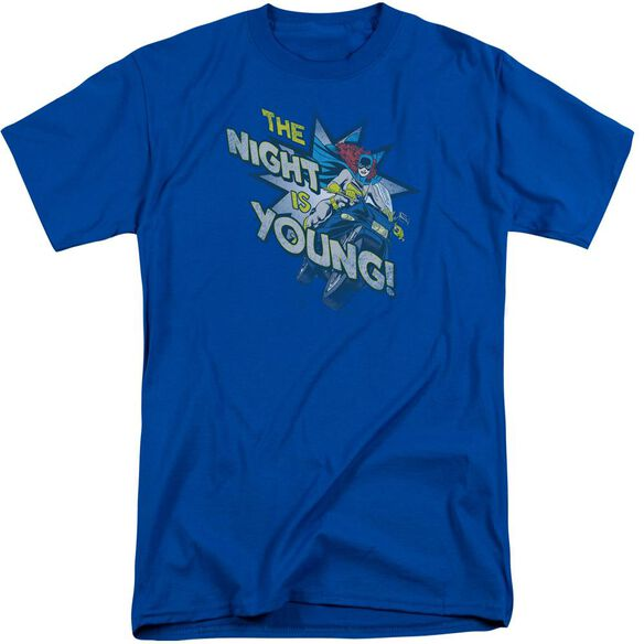 Dc The Night Is Young Short Sleeve Adult Tall Royal T-Shirt