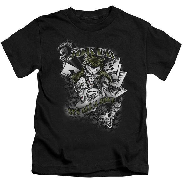 Batman Its All A Joke Short Sleeve Juvenile Black T-Shirt
