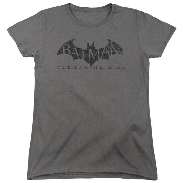 Batman Arkham Origins Crackle Logo Short Sleeve Womens Tee T-Shirt