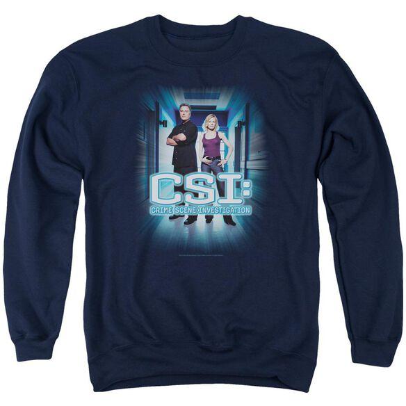 Csi Serious Business Adult Crewneck Sweatshirt