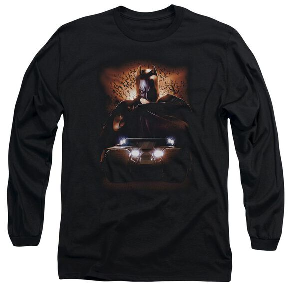 Batman Begins Batman & Tumbler Long Sleeve Adult T-Shirt