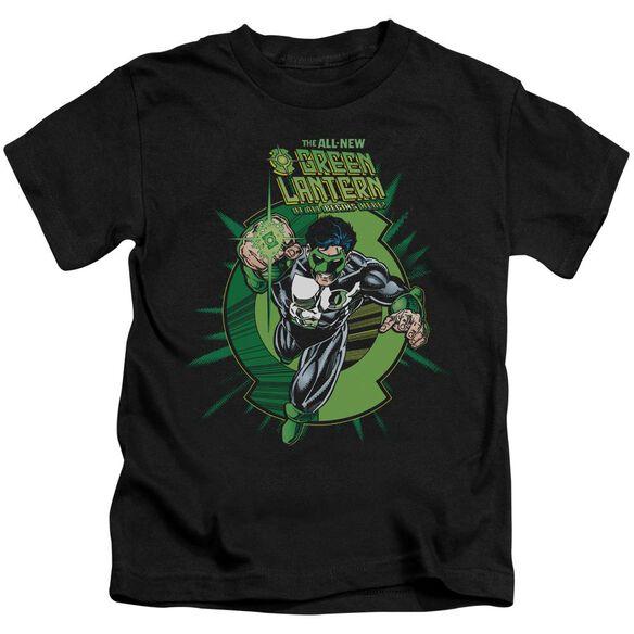 Green Lantern Rayner Cover Short Sleeve Juvenile Black Md T-Shirt