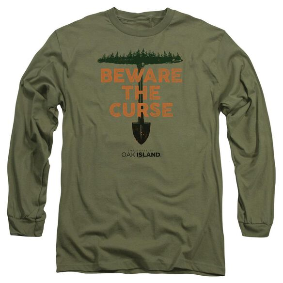 The Curse Of Oak Island Beware The Curse Long Sleeve Adult Military T-Shirt