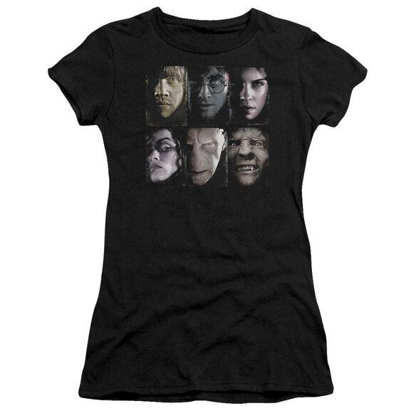 Harry Potter Horizontal Heads Short Sleeve Junior Sheer T-Shirt