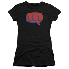 Yes Word Bubble Short Sleeve Junior Sheer T-Shirt