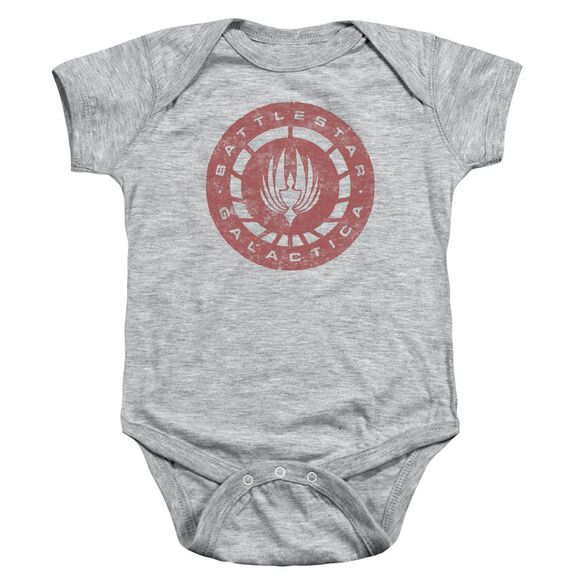 Bsg Eroded Logo Infant Snapsuit Athletic Heather