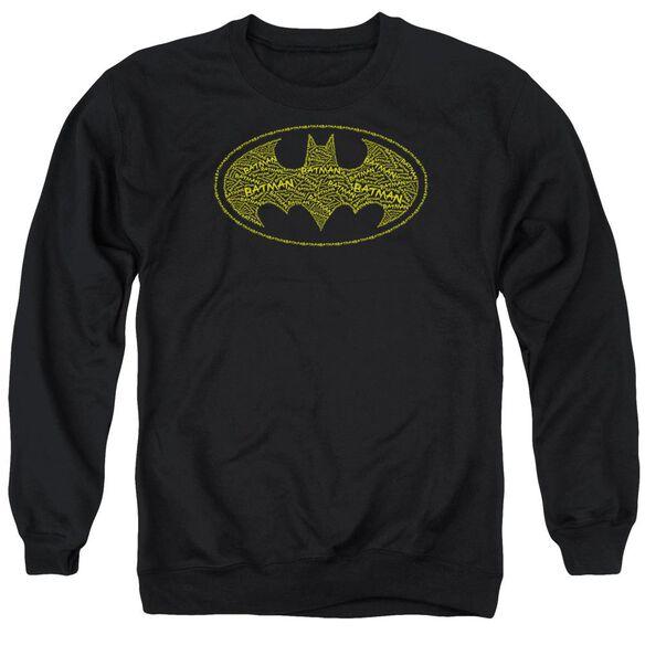 Batman Type Logo Adult Crewneck Sweatshirt