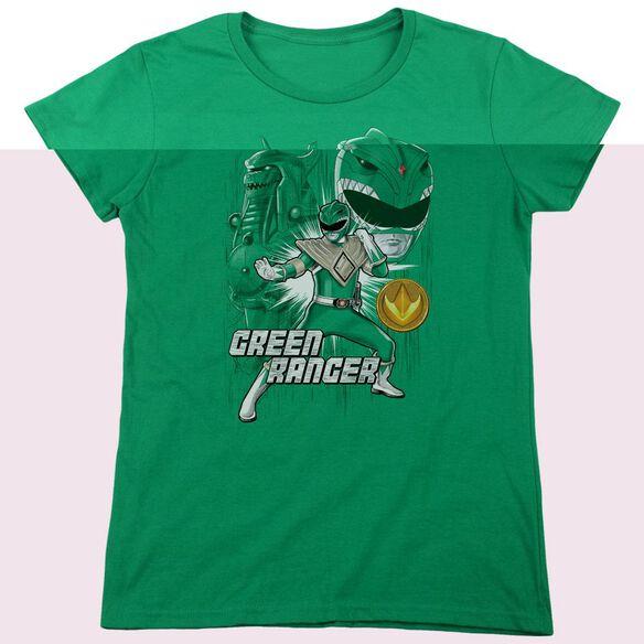 Power Rangers Ranger Short Sleeve Women's Tee Kelly T-Shirt