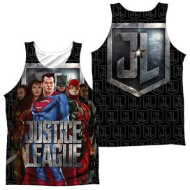 Justice League Movie The League (Front Back Print) Adult Poly Tank Top