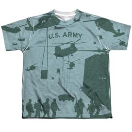 Army Airborne Short Sleeve Youth Poly Crew T-Shirt