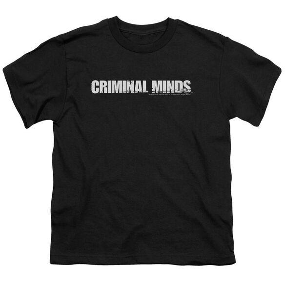 Criminal Minds Logo Short Sleeve Youth T-Shirt
