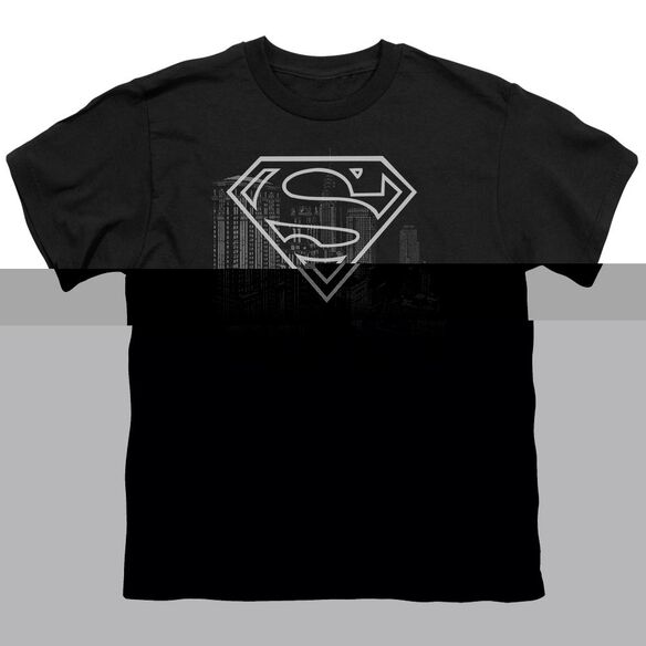 SUPERMAN SKYLINE - S/S YOUTH 18/1 - BLACK T-Shirt