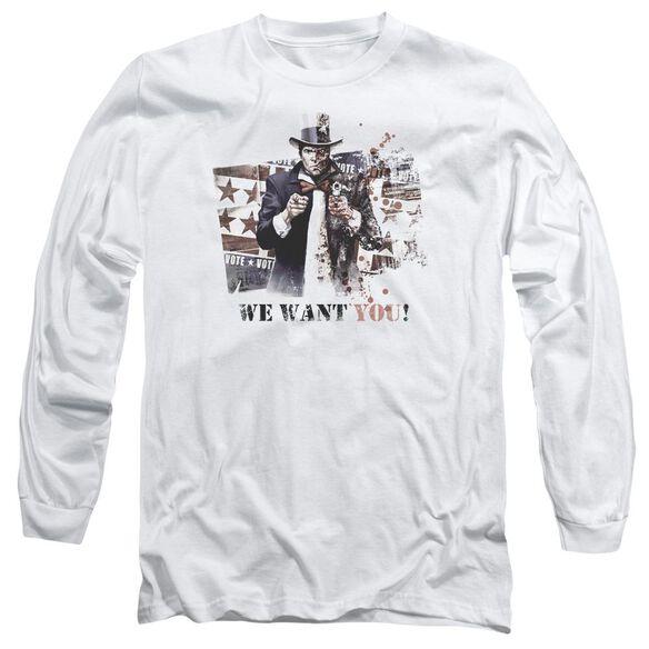 ARKHAM CITY WE WANT YOU - L/S ADULT 18/1 - WHITE T-Shirt