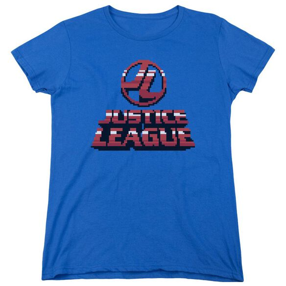 Jla 8 Bit Jla Short Sleeve Womens Tee Royal T-Shirt