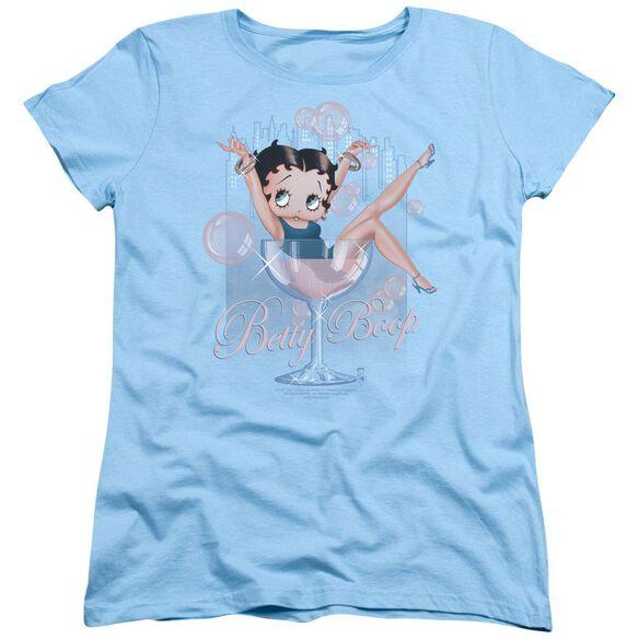 Betty Boop Pink Champagne Short Sleeve Womens Tee Light T-Shirt