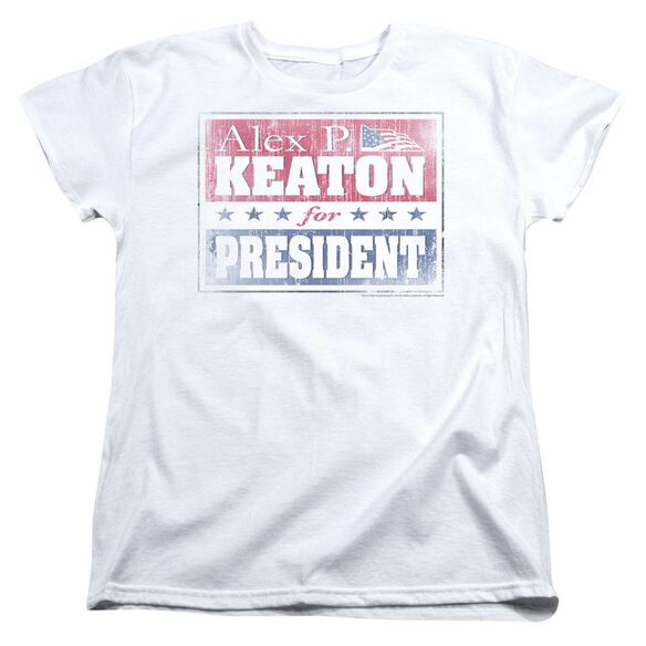 Family Ties Alex For President Short Sleeve Womens Tee T-Shirt