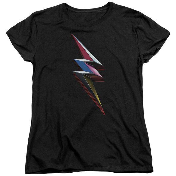 Power Rangers Movie Bolt Short Sleeve Womens Tee T-Shirt