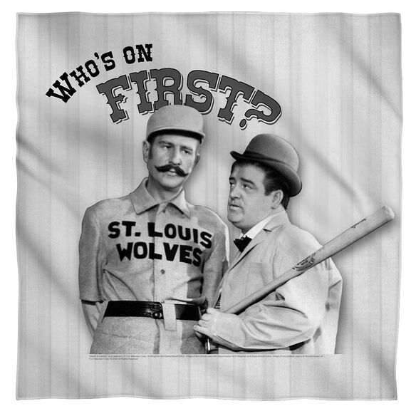 Abbott & Costello First Bandana White