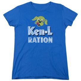KEN L RATION DISTRESSED LOGO-S/S WOMENS T-Shirt