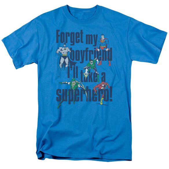 Dc Forget My Boyfriend Short Sleeve Adult Turquoise T-Shirt