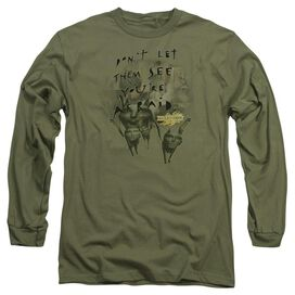 Mirrormask Dont Let Them Long Sleeve Adult Military T-Shirt