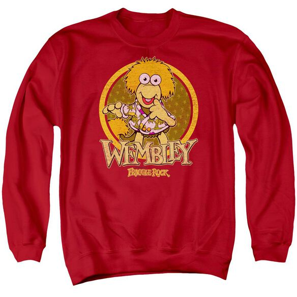 Fraggle Rock Wembley Circle Adult Crewneck Sweatshirt