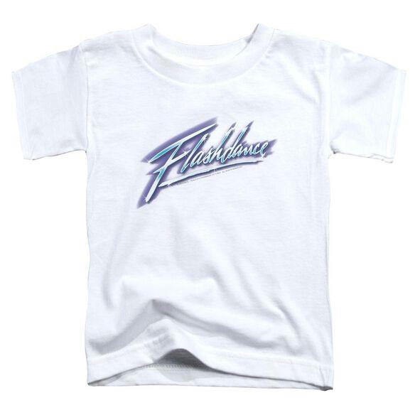 Flashdance Logo Short Sleeve Toddler Tee White Lg T-Shirt