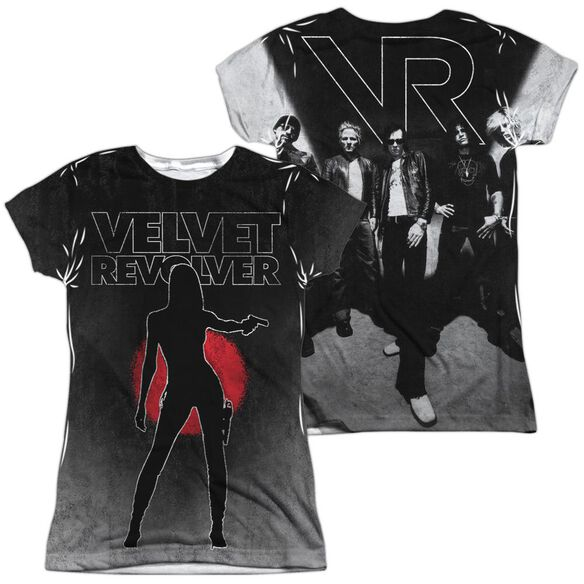 Velvet Revolver Contraband Sub (Front Back Print) Short Sleeve Junior Poly Crew T-Shirt