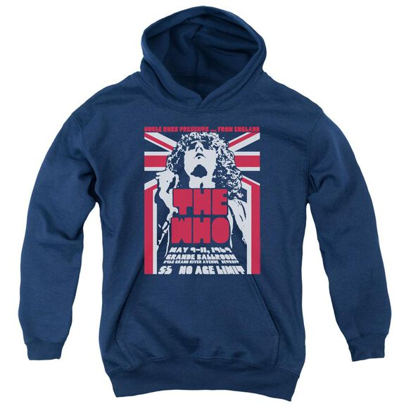 The Who Grande Ballroom 69 Youth Pull Over Hoodie
