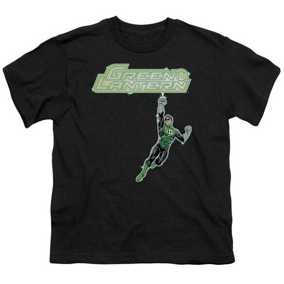Green Lantern Energy Construct Logo Short Sleeve Youth T-Shirt
