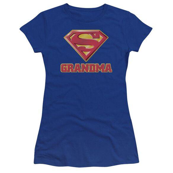 Superman Super Grandma Premium Bella Junior Sheer Jersey Royal