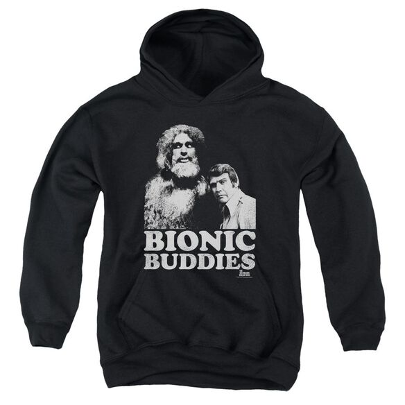 Six Million Dollar Man Bionic Buddies Youth Pull Over Hoodie