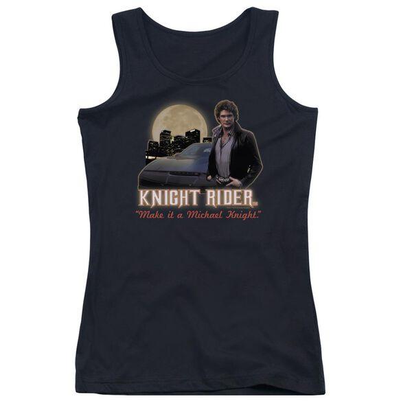 Knight Rider Full Moon Juniors Tank Top