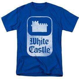 White Castle Classic Logo Short Sleeve Adult Royal T-Shirt