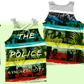The Police Synchronicity (Front Back Print) Adult Poly Tank Top