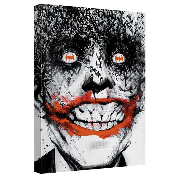 Batman Joker Bats Canvas Wall Art With Back Board