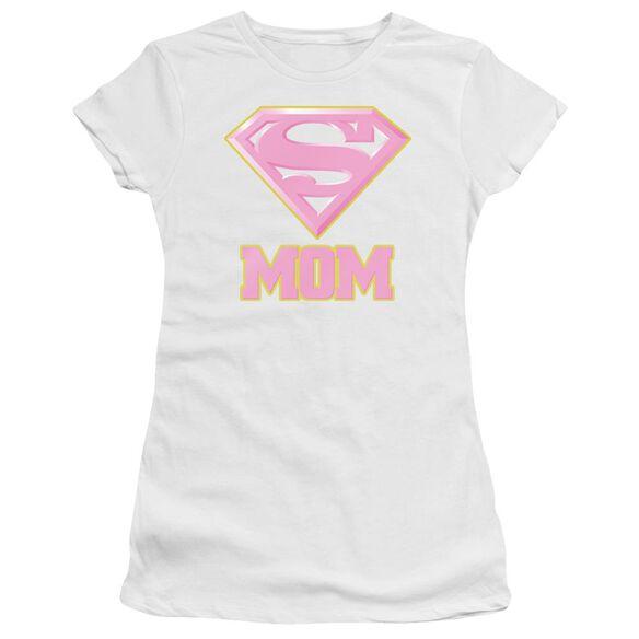 Superman Super Mom Pink Hbo Short Sleeve Junior Sheer T-Shirt