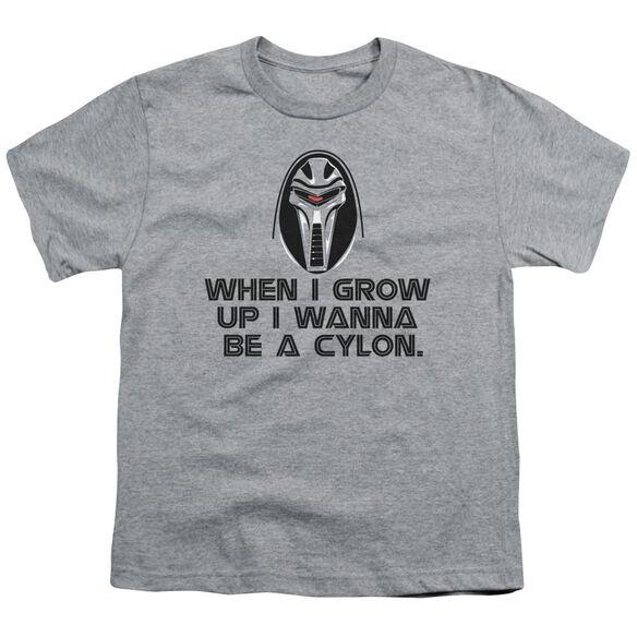 Bsg Grow Up Cylon Short Sleeve Youth Athletic T-Shirt