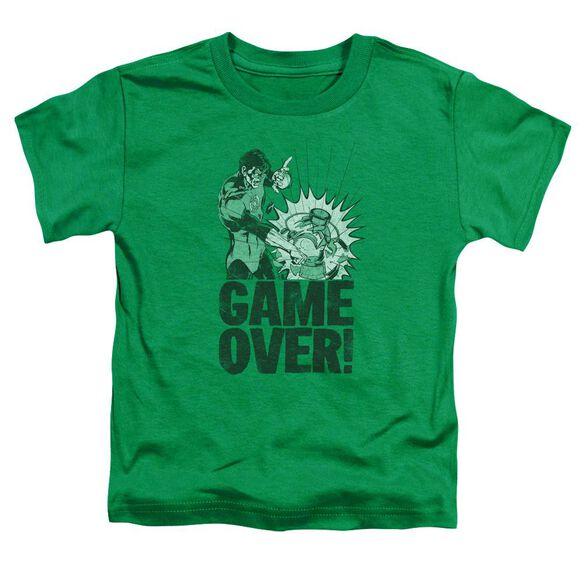 Green Lantern Game Over Short Sleeve Toddler Tee Kelly Green Lg T-Shirt