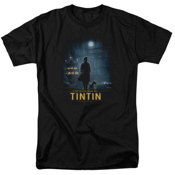 Tintin Title Poster Short Sleeve Adult T-Shirt