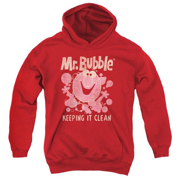Mr Bubble Keeping It Clean Youth Pull Over Hoodie