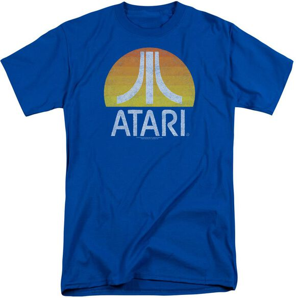 Atari Sunrise Eroded Short Sleeve Adult Tall Royal T-Shirt