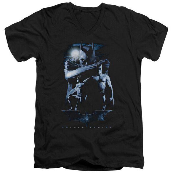 Batman Begins Forlorn Future Short Sleeve Adult V Neck T-Shirt
