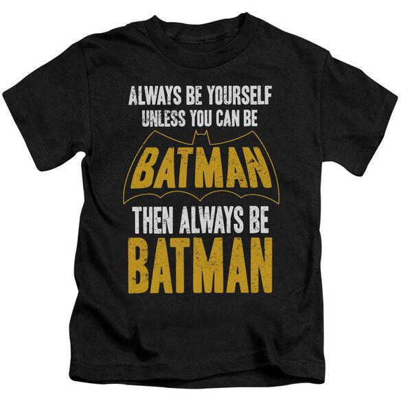 Batman Be Batman Short Sleeve Juvenile Black T-Shirt