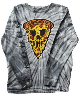 Skelly & Co Washed Pizza Long Sleeve T-Shirt