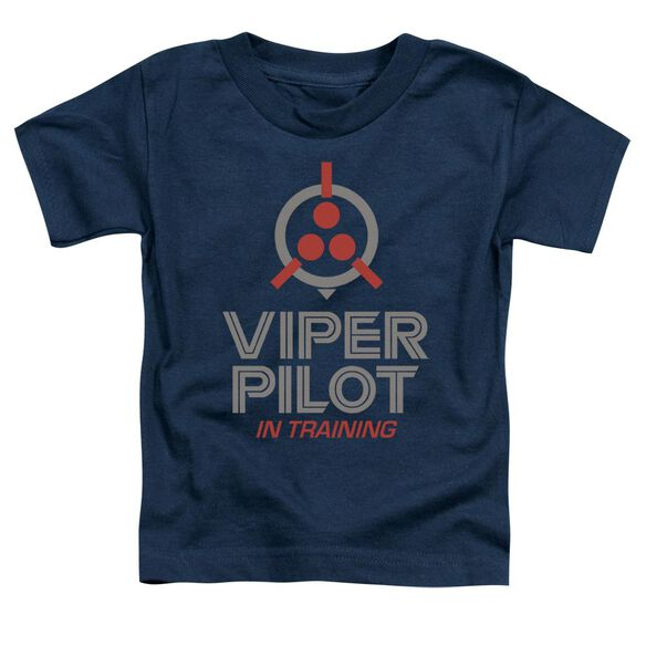 Battlestar Galactica (New) Viper In Training Short Sleeve Toddler Tee Navy T-Shirt