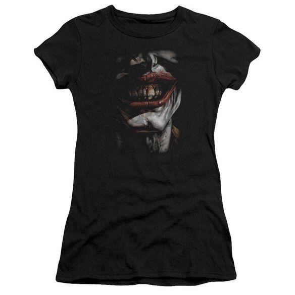 Batman Smile Of Evil Short Sleeve Junior Sheer T-Shirt