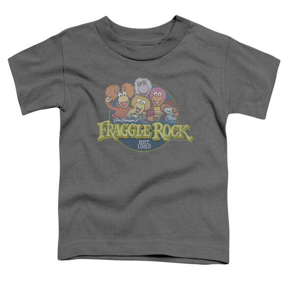 Fraggle Rock Circle Logo Short Sleeve Toddler Tee Charcoal T-Shirt