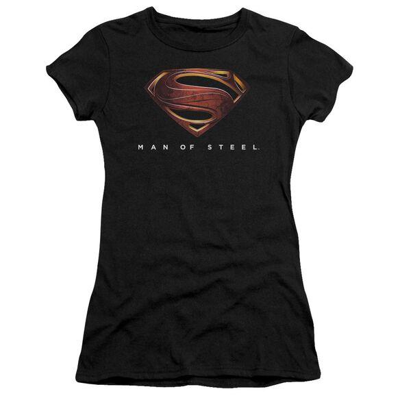 Man Of Steel Mos New Logo Short Sleeve Junior Sheer T-Shirt