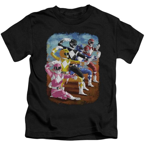 Power Rangers Impressionist Rangers Short Sleeve Juvenile Black T-Shirt